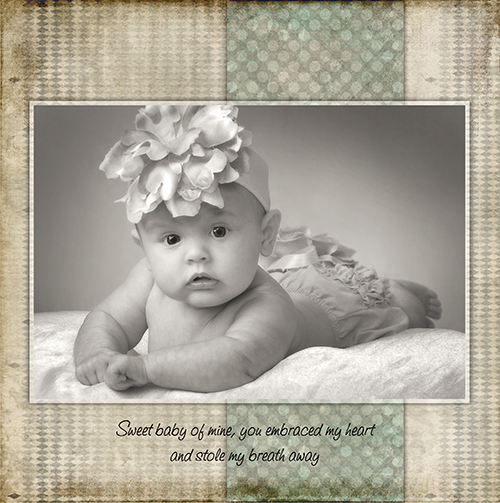 three month old baby portrait