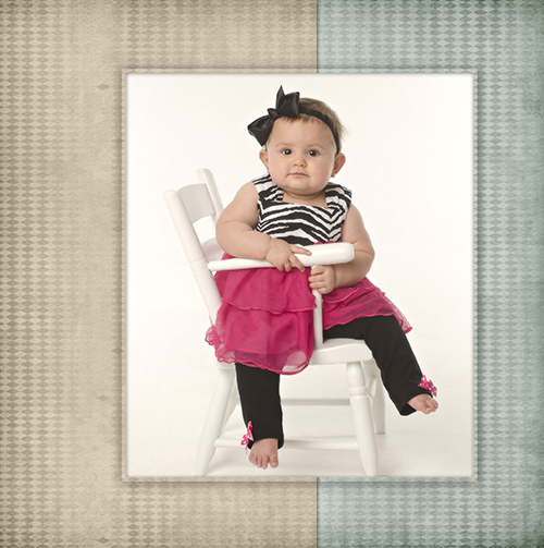 nine month old baby girl portrait