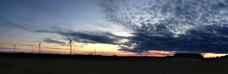 Panorama sunrise fine art photograph outside Van Werth, Ohio