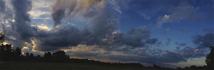 Panorama sunset fine art photograph at Sycamore State Park, Ohio