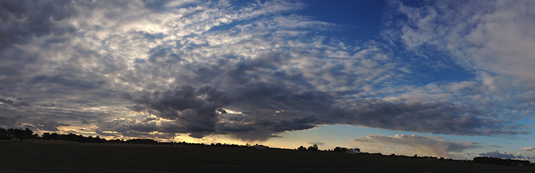 Panorama sunset fine art photograph near Helena, Ohio