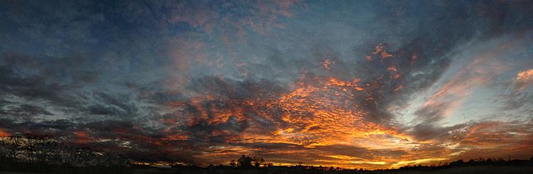 Panorama sunset fine art photograph near Springboro, Ohio