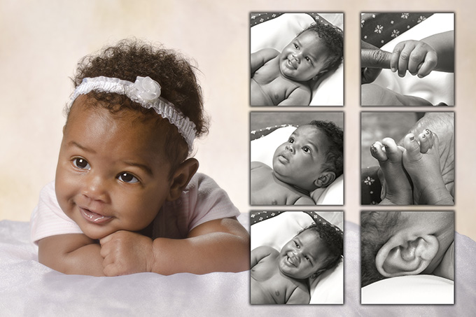 African American 3 month baby portrait by Dan Cleary of Cleary Creative Photography in Dayton Ohi