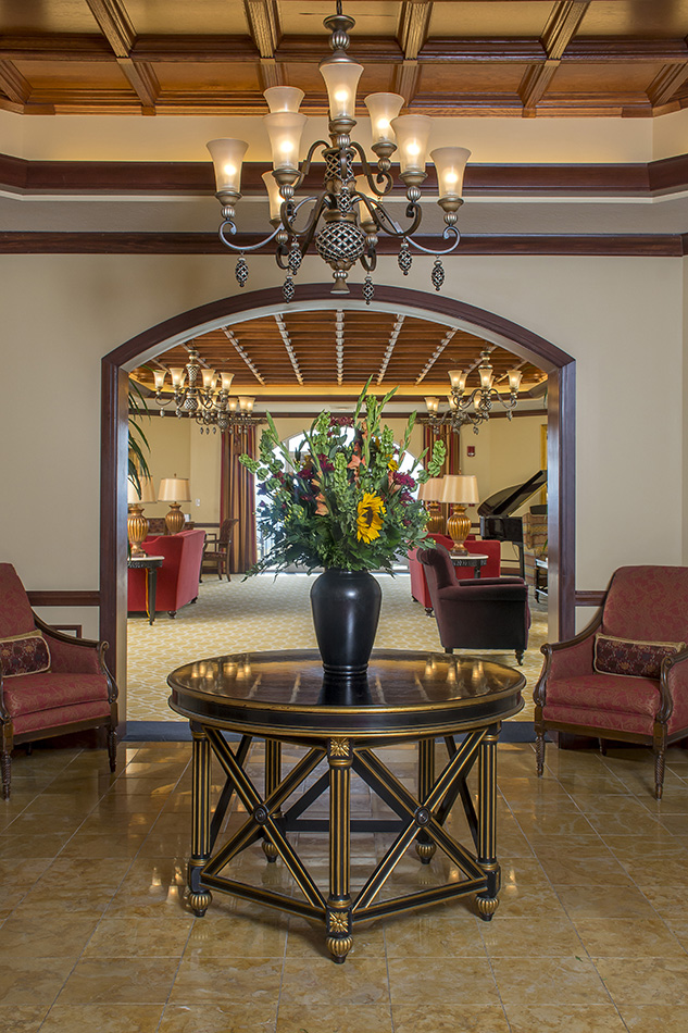 Interior photograph of Kenwood Retirement lobby by Dan Cleary of Cleary Creative Photography in Dayton Ohio
