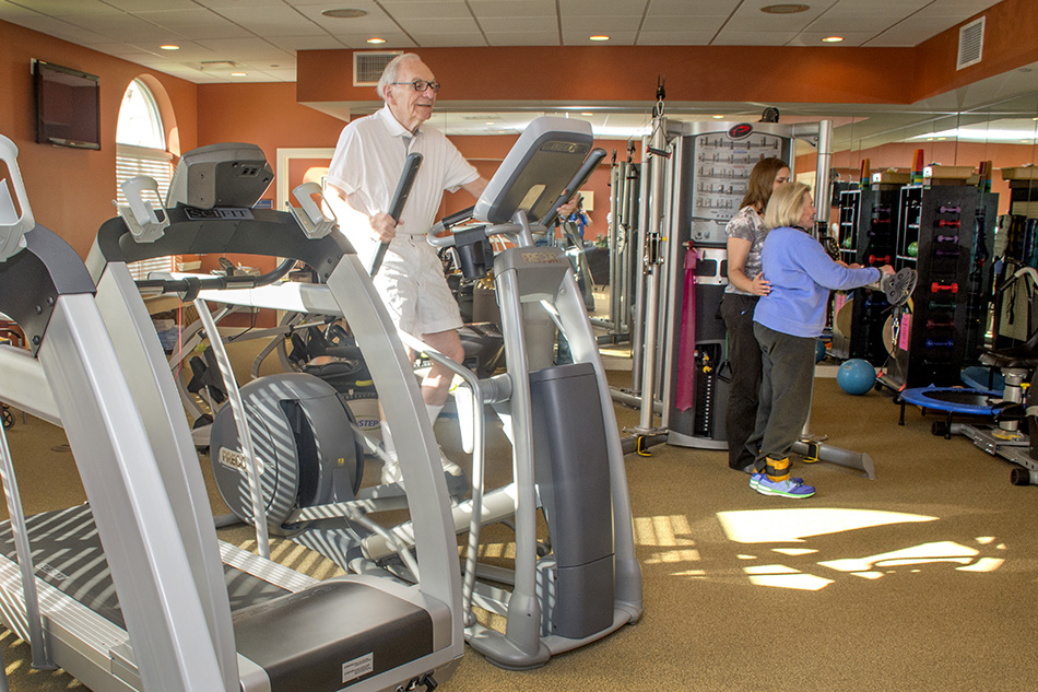 professional photograph at Kenwood Retirement community work out room by Dan Cleary of Cleary Creative Photography in Dayton Ohio