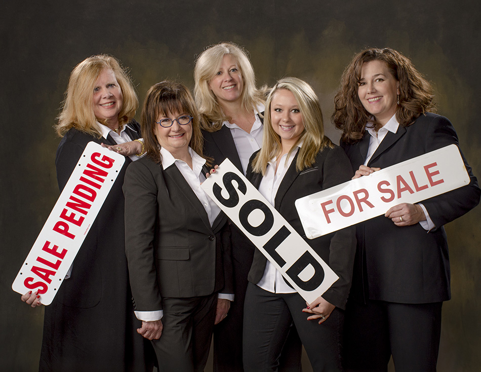 studio photograph of female realtors by Cleary Creative Photography in Dayton Ohio